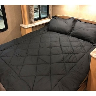 Shop Byb Short Queen Comforter Rv Bedding Black Free