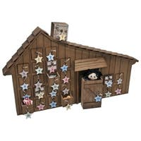 Little House on the Prairie Wooden Holiday Advent Calendar With Star Ornaments & Info Cards &  Quotes From the Real-life Ingalls