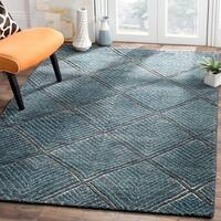 Safavieh Hand-Knotted Paseo Charcoal/ Blue Wool Rug (6' x 9')