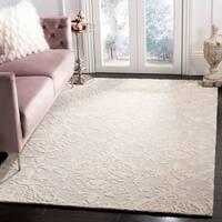Safavieh Handmade Blossom Sage/ Ivory Wool Rug - 6' x 6' Round