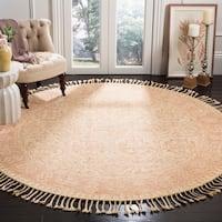 Safavieh Handmade Aspen Ivory/ Blush Wool Rug - 7' Round