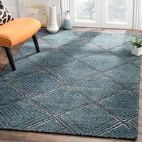 Safavieh Hand-Knotted Paseo Charcoal/ Blue Wool Rug - 9' x 12'