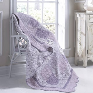 Donna Sharp Lavender Rose Throw
