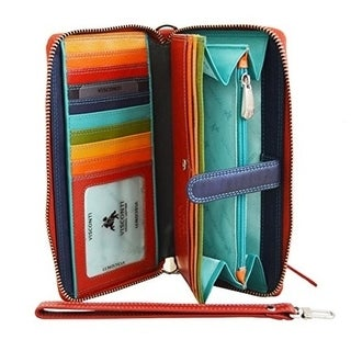 Visconti Spectrum SP40 Multi Colored Soft Leather Ladies Wallet Purse Clutch (2 options available)