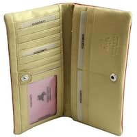 Visconti Minx CSM6 Ladies Large Soft Leather Checkbook Wallet Purse Bifold