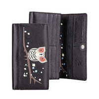 Visconti OWL Collection Soft Genuine Leather Womens Wallet / Purse / Clutch