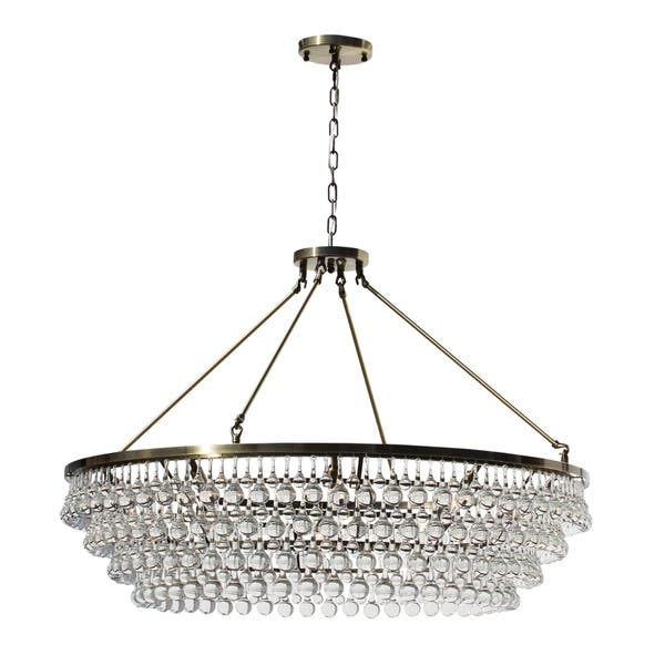 Celeste Extra Large Gl Drop Crystal Chandelier Antique Br N A