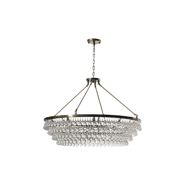 Celeste extra large glass drop crystal chandelier antique brass celeste extra large glass drop crystal chandelier antique brass aloadofball Image collections