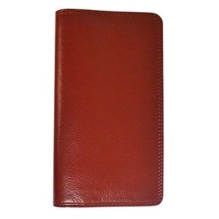 Visconti TC-7 Bifold Leather Checkbook Travel Wallet