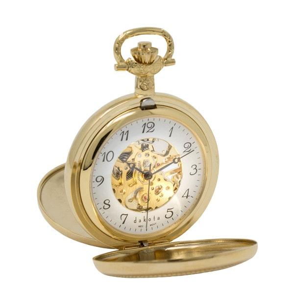 Dakota Men's Gold Mechanical Pocket Watch