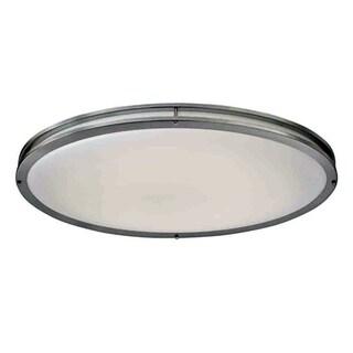 HomeSelects Saturn Brushed Nickel-finish Aluminum/Acrylic LED Flush-mount Light