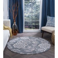 Alise Rugs Carrington Transitional Floral Area Rug - 7'10
