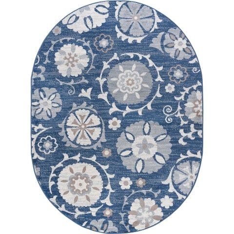 Alise Rugs Carrington Transitional Floral Area Rug - 5'3 x 7'3
