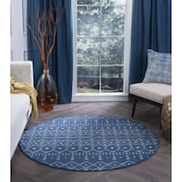 Alise Rugs Carrington Transitional Geometric Area Rug (7'10 Round) - 7'10