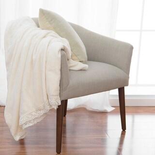 Aurora Home Plush Fleece Lace Border Throw Blanket (4 options available)