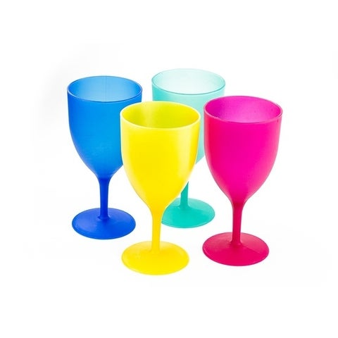 Colorful Plastic Picnic / Party Supply Set - Plastic Goblets - 4 Pieces