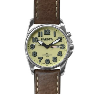 Dakota Men's Steel Angler Watch with Moonglow EL