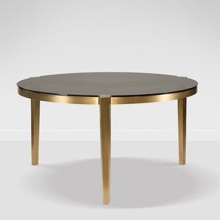Milano Black/Gold Stainless Steel Round Dining Table