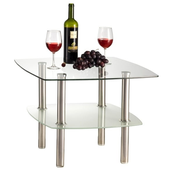 Shop Fineboard Glass Coffee Table / Side Table 2 Tier