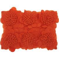 "Mina Victory Sunflowers Burnt Orange Throw Pillow (12"" x 18"")"