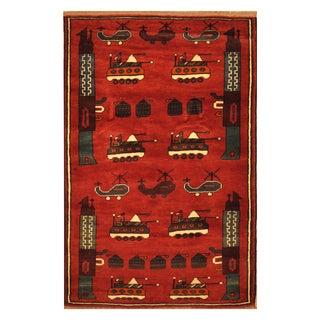 Handmade Herat Oriental Afghan Hand-knotted Wool War Rug (2'11 x 4'8) - 2'11 x 4'8