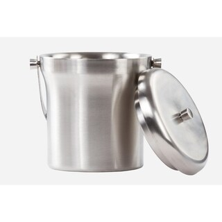 Double Wall Modern-Looking Ice Bucket High-Quality Stainless Steel