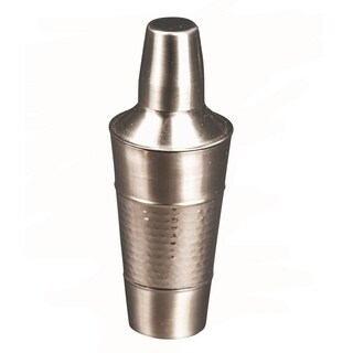 25 Oz Stainless Steel Cocktail Shaker Mixer With Jigger Cap Strainer