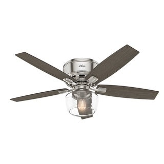 Hunter Fan Silver/Grey Walnut/Oak Brushed-nickel 52-inch Ceiling Fan