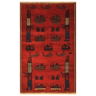 Handmade Herat Oriental Afghan Hand-knotted Wool War Rug (3' x 5')