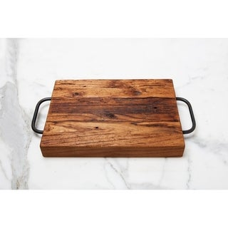 Farmhouse Cutting Board, Metal Handles