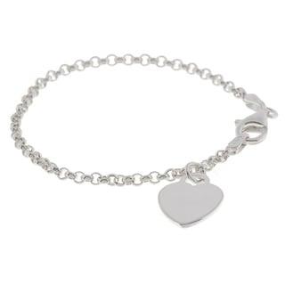 Journee Sterling Silver Heart Style Children's Bracelet