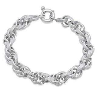 Pori Jewelers sterling silver double rolo chain bracelet