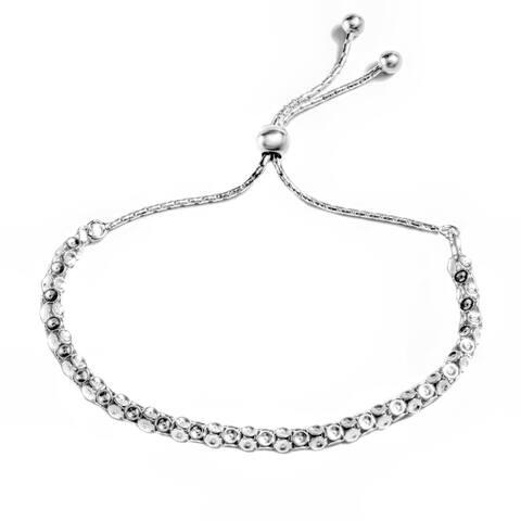 Pori Jewelers Sterling Silver Popcorn Chain Adjustable Slider Bracelet