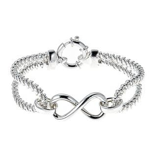 Pori Jewelers Sterling Silver Infinity Cable Bangle|https://ak1.ostkcdn.com/images/products/18789994/P24858631.jpg?impolicy=medium