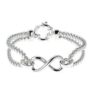 Pori Jewelers Sterling Silver Infinity Cable Bangle
