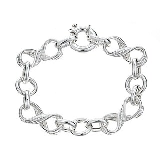 Pori Jewelers Sterling Silver Infinity & Twisted Circle Chain Bracelet