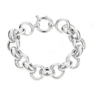 Pori Jewelers Sterling Silver Rolo Thick Bracelet