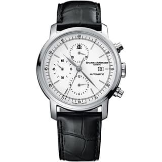 Baume & Mercier Men's MOA08591 Classima White Dial Watch|https://ak1.ostkcdn.com/images/products/1879072/P10207962.jpg?impolicy=medium