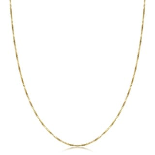 Fremada 14-kt Yellow Gold 16-inch Box Necklace