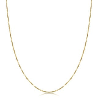 Fremada 14-kt Yellow Gold 20-inch Box Necklace