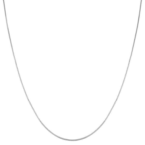Fremada 14k White Gold 16-inch Box Necklace