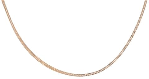 14k Yellow Gold 16-inch Silk Foxtail Necklace