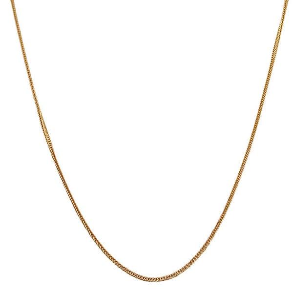 Fremada 14k Yellow Gold Silk Foxtail Necklace (16 - 24 inch)