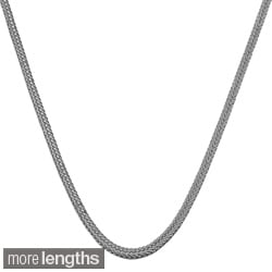 14k White Gold Silk Foxtail Necklace (16 - 24inch)