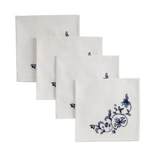 "Blue Portofino Napkin 19"" 4Pc"