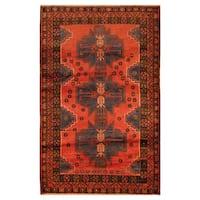 Handmade Herat Oriental Afghan Hand-knotted Tribal Balouchi Wool Area Rug (2'10 x 4'7)