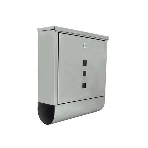 ALEKO Wall Mounted Mail Box Retrieval Door and Newspaper Compartment