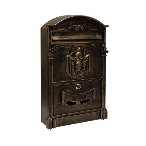 ALEKO Elegant Wall Mounted Mail Box with Retrieval Door 2 Keys