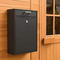 ALEKO Durable Security Locking Wall Mounted Mail Drop Box with Lock