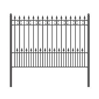 ALEKO St. Petersburg Style DIY Iron Steel Ornamental Fence 5.5' X 5'